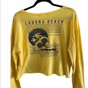 Laguna Beach long sleeve cropped tee